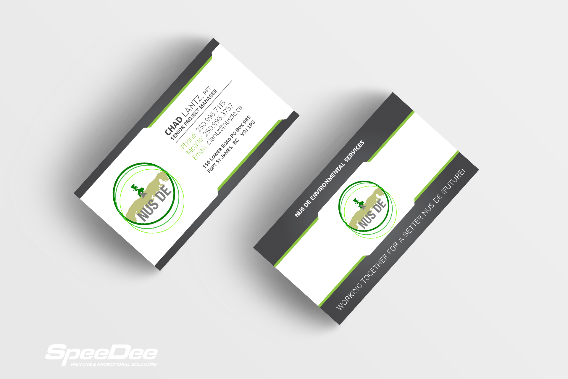 Nus De Environmental Services: Business Cards - Speedee Solutions